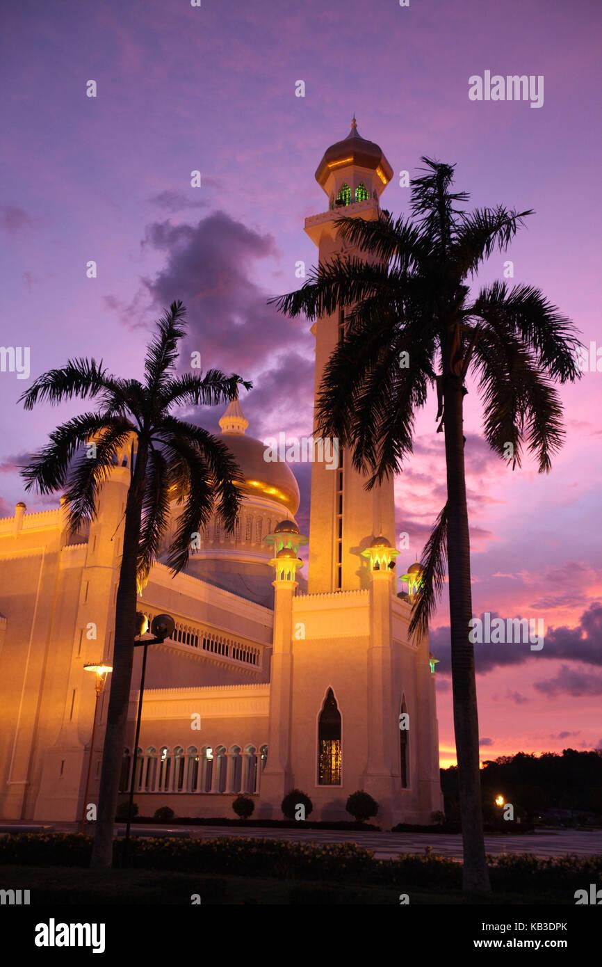 Asia, South-East Asia, Brunei Darussalam, chapelar Seri Begawan, Omar Ali Saifuddien Moschee, - Stock Image