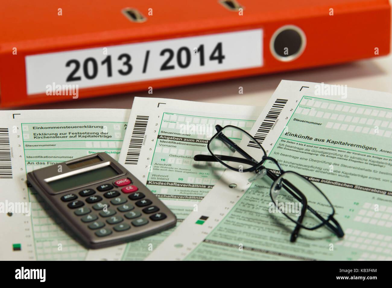 Still life, income tax, - Stock Image
