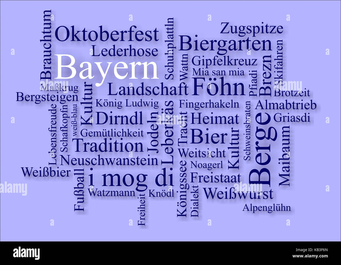Definitions to the topic Bavaria, - Stock Image