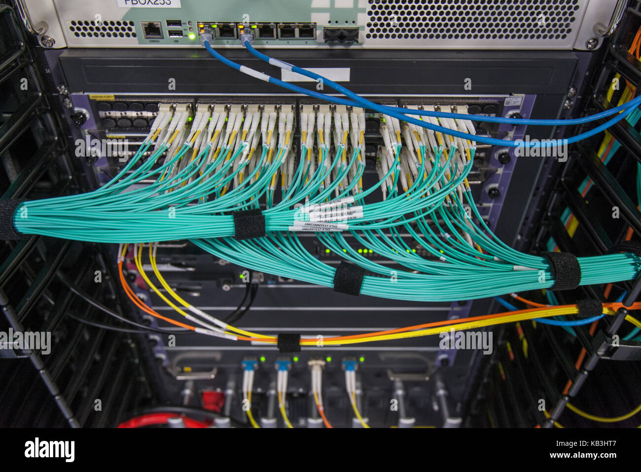Structured Cabling Stock Photos Images Wiring Diagram Fiber Optic As Well Patch Panel For Fiberoptic Networks And Video In Communications Rack Image