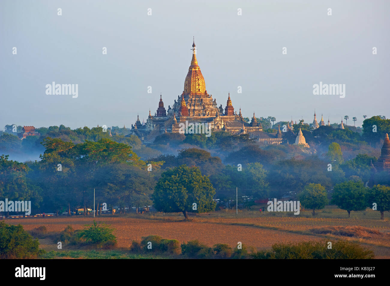 temple complex Bagan, Myanmar, Asia, - Stock Image