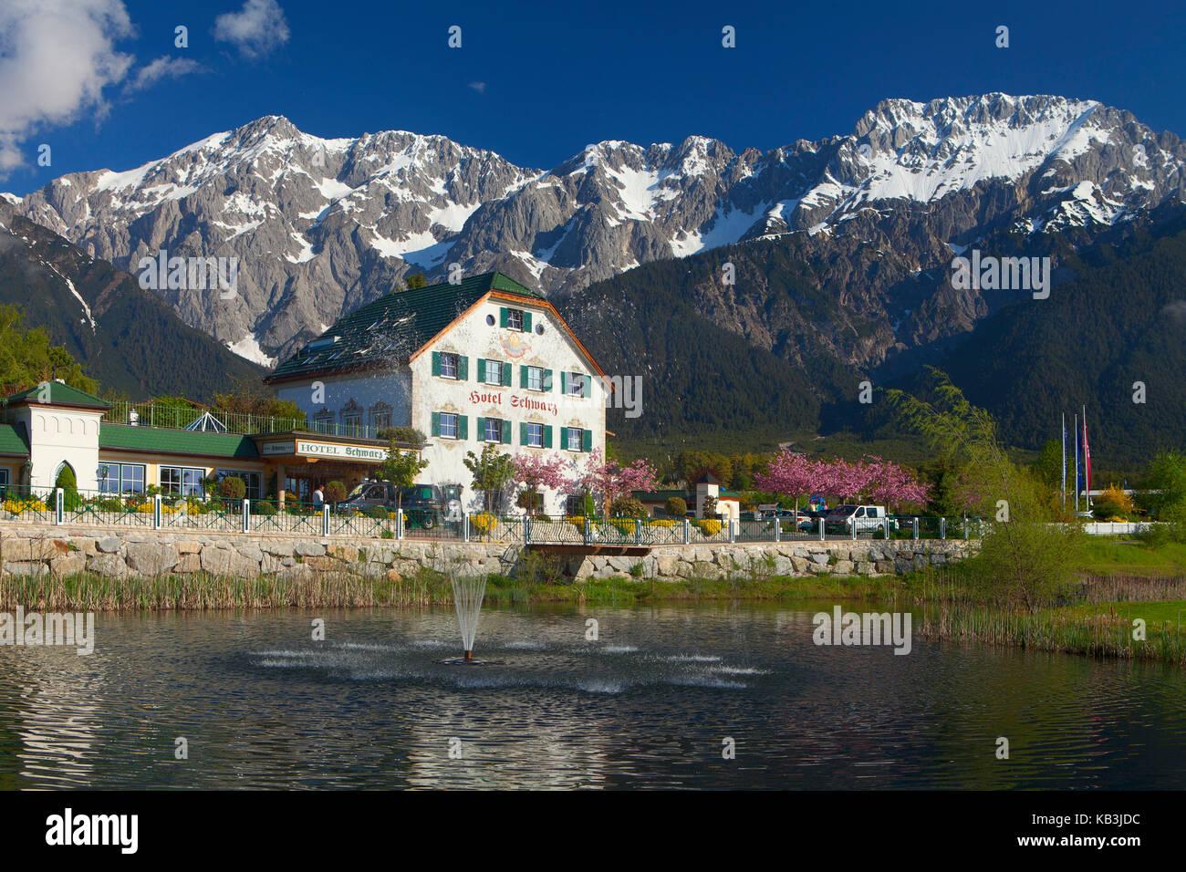 Hotel Schwarz in Mieming, Tyrol, - Stock Image