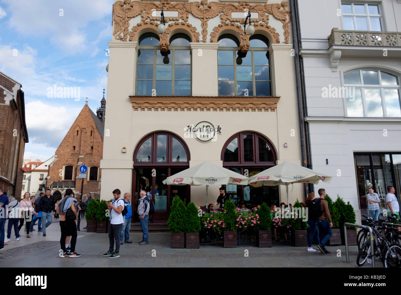Hard Rock Cafe in Krakow, Poland, Europe - Stock Image