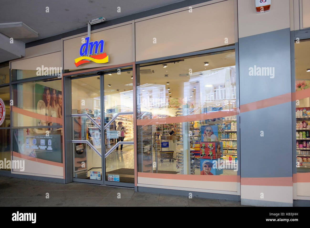 DM drugstore in Vienna, Austria, Europe - Stock Image
