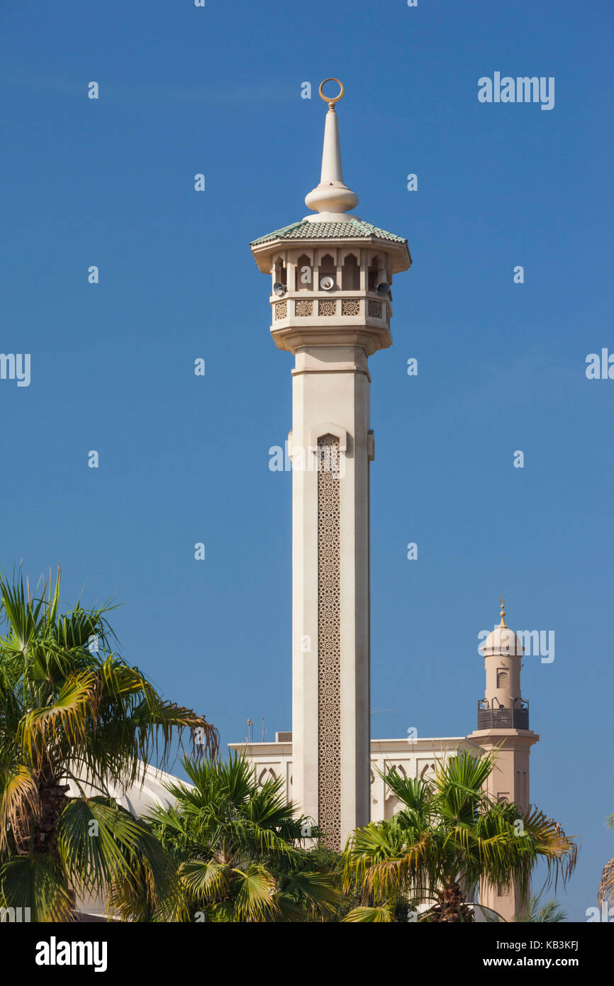 UAE, Dubai, Bur Dubai, mosque at The Rulers Court - Stock Image