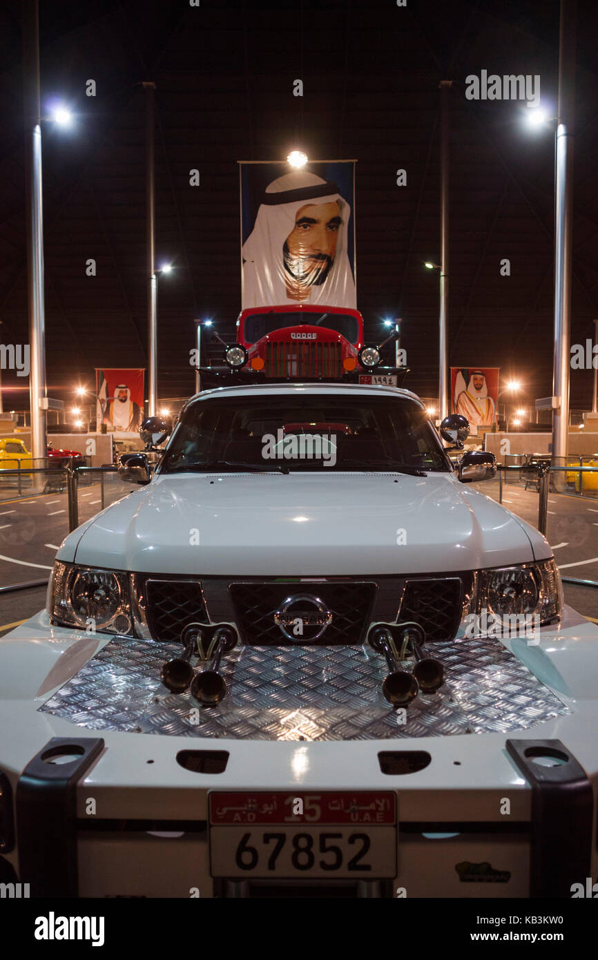 UAE, Abu Dhabi, Shanayl, Emirates National Car Museum, car collection of Sheikh Hamad Bin Hamdan Al Nahyan, also - Stock Image