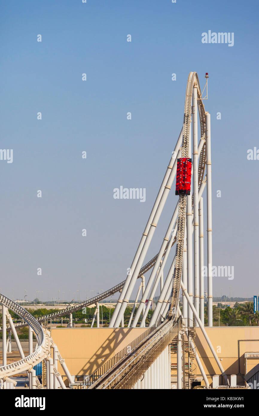 UAE, Abu Dhabi, Yas Island, Ferrari World Amusement Park
