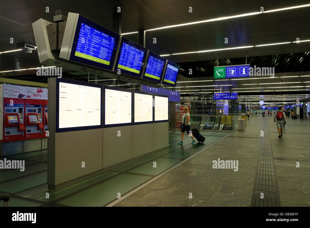 Central Railway Station in Vienna, Austria, Europe - Stock Image