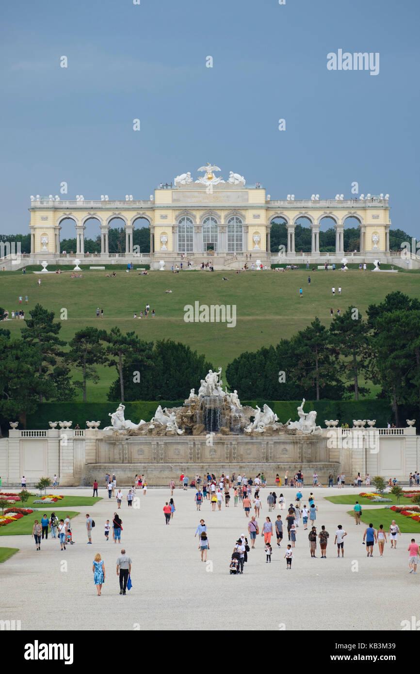 Gloriette at Schönbrunn Palace in Vienna, Austria, Europe - Stock Image