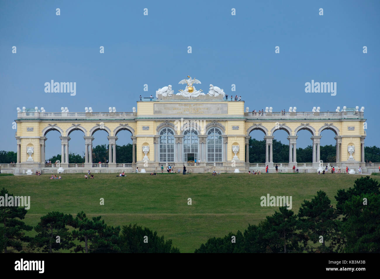 Gloriette at Schönbrunn Palace in Vienna, Austria, Europe - Stock Image