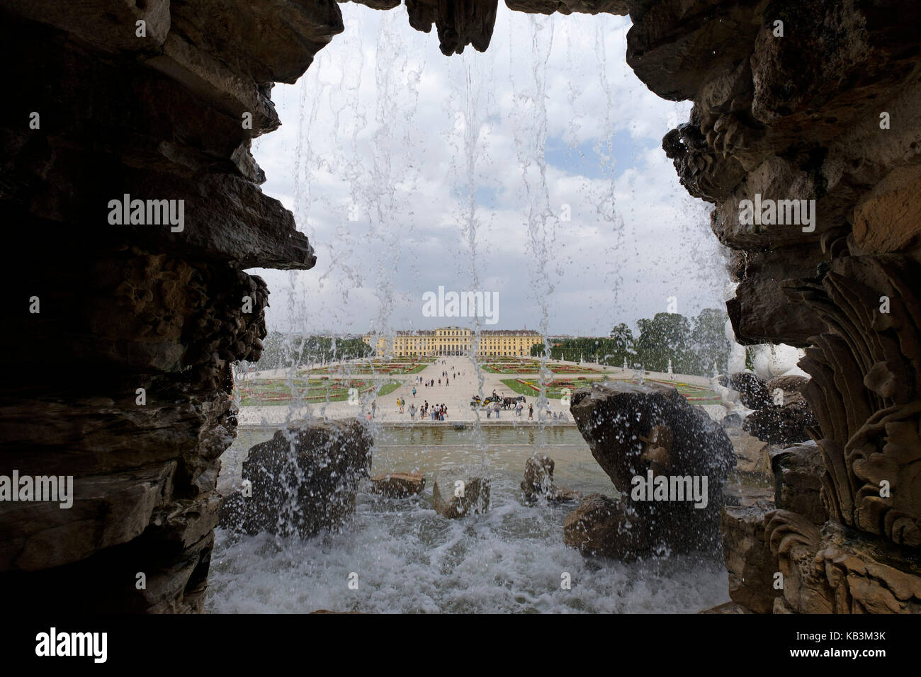 Schönbrunn Palace in Vienna, Austria, Europe - Stock Image