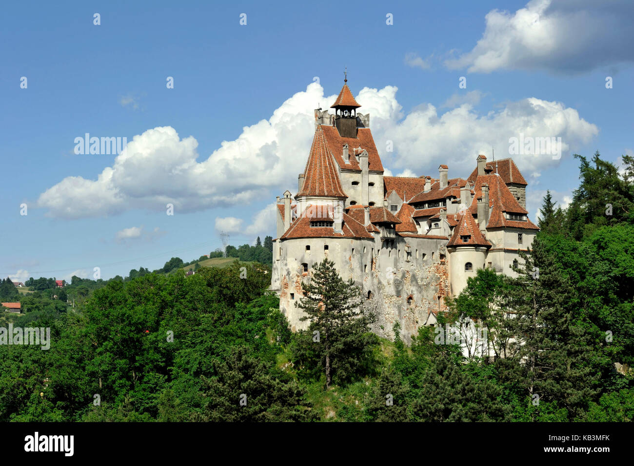 Romania, Transylvania, Carpathian Mountains, Bran, the first castle was erected by the Teutonic Knights in the 13th Stock Photo