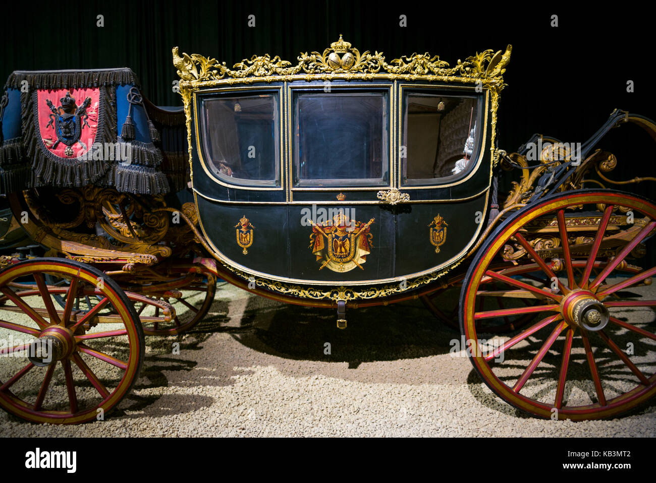 Belgium, Brussels, Autoworld, one of the largest automotive museums in Europe, French-built 1852, Berline de Gala, - Stock Image