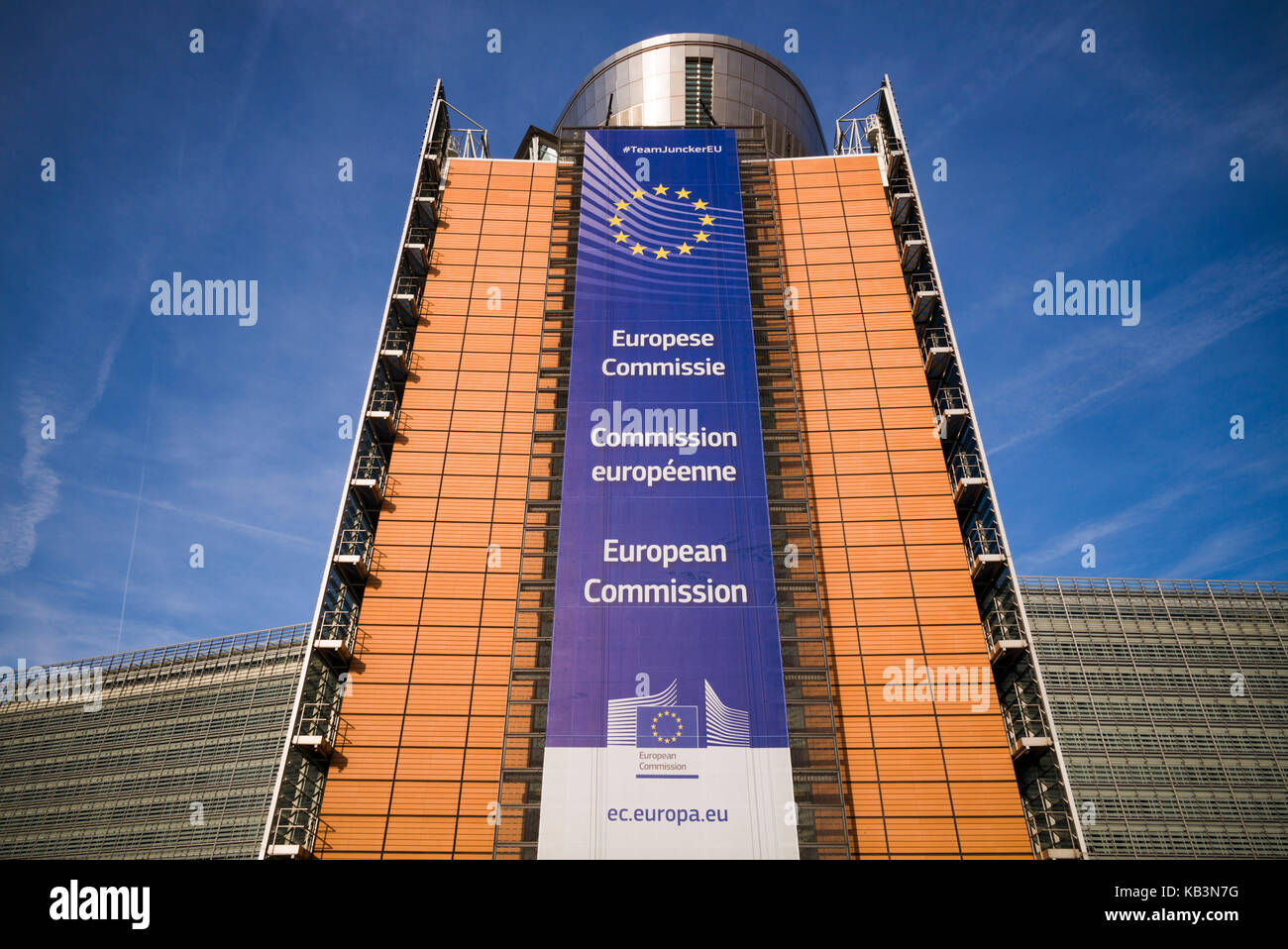 Belgium, Brussels, EU Area, Berlaymont Building, HQ of the EU Commision, exterior - Stock Image