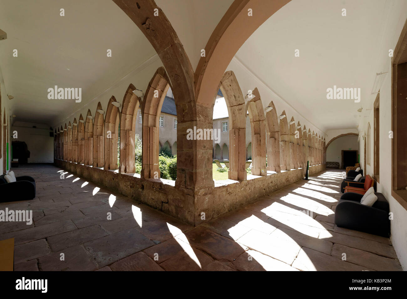 France, Haut-Rhin, Guebwiller, les Dominicains de Haute-Alsace, the cloister Stock Photo