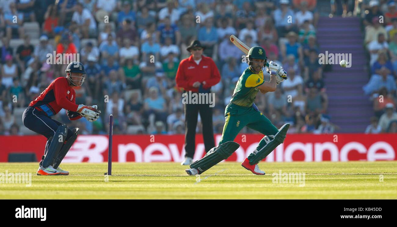 Farhaan Behardien of South Africa batting during the International Twenty20 match between England and South Africa - Stock Image