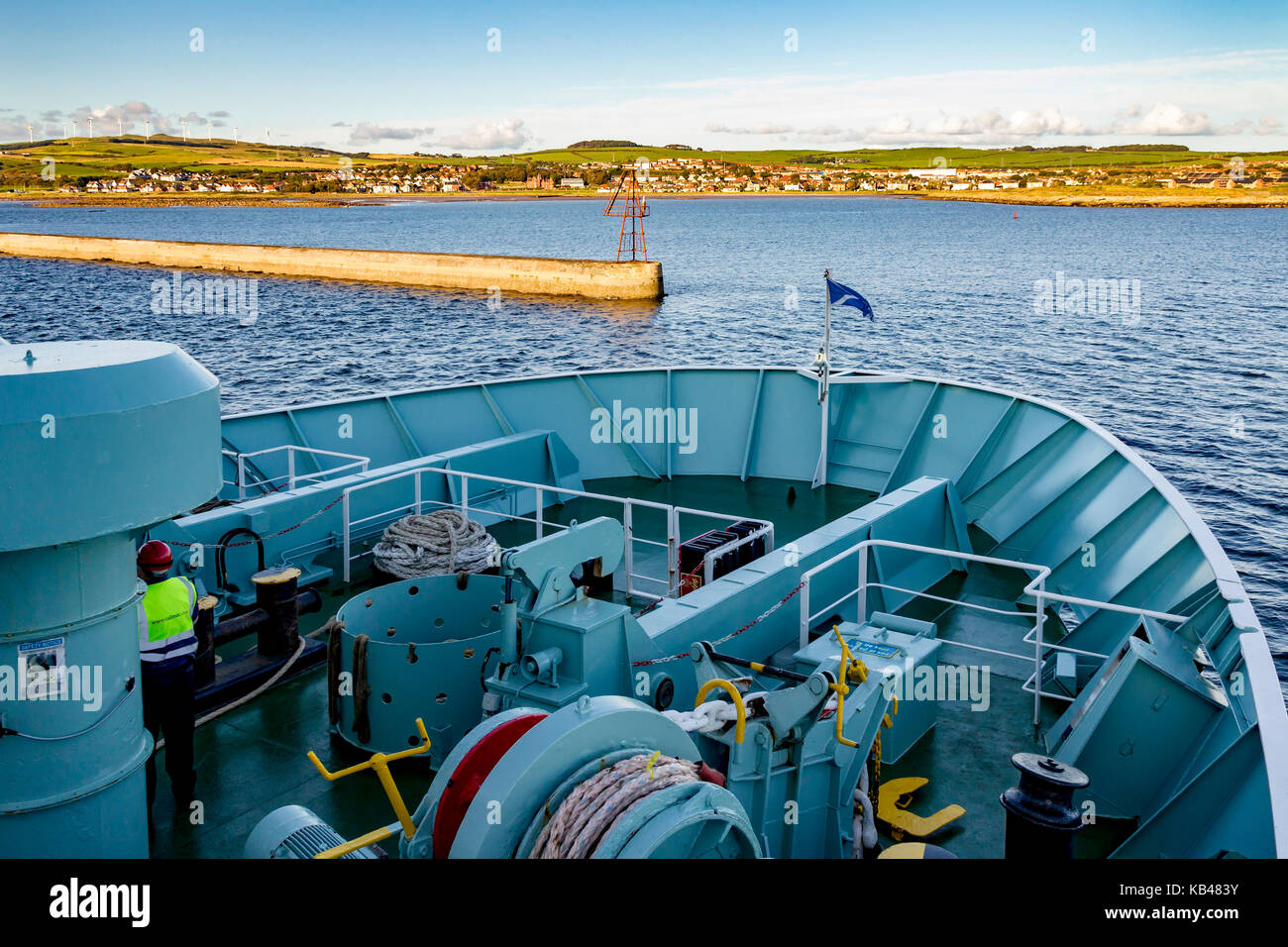Entering Brodrick harbour, Isle of Arran, Scotland. - Stock Image