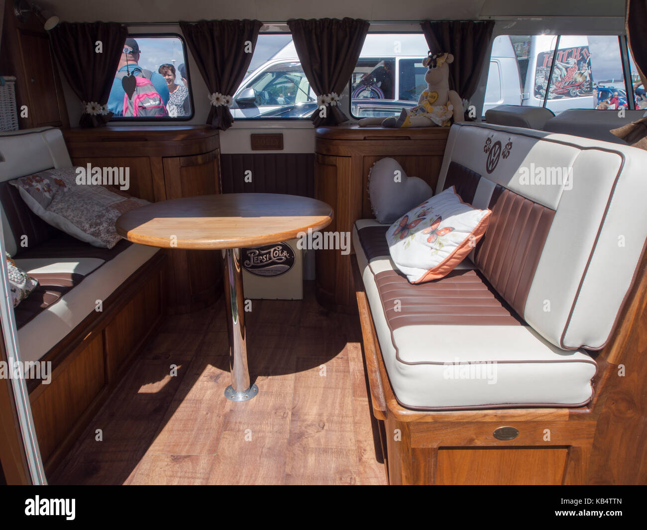 The Interior Of A Customised VW Camper Van