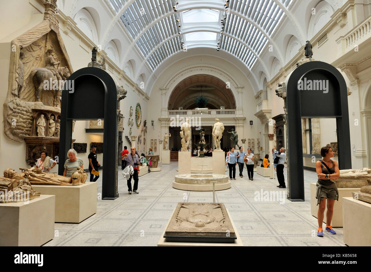 United Kingdom, London, South Kensington, Victoria and Albert Museum (V&A Museum) founded in 1852, room dedicated - Stock Image