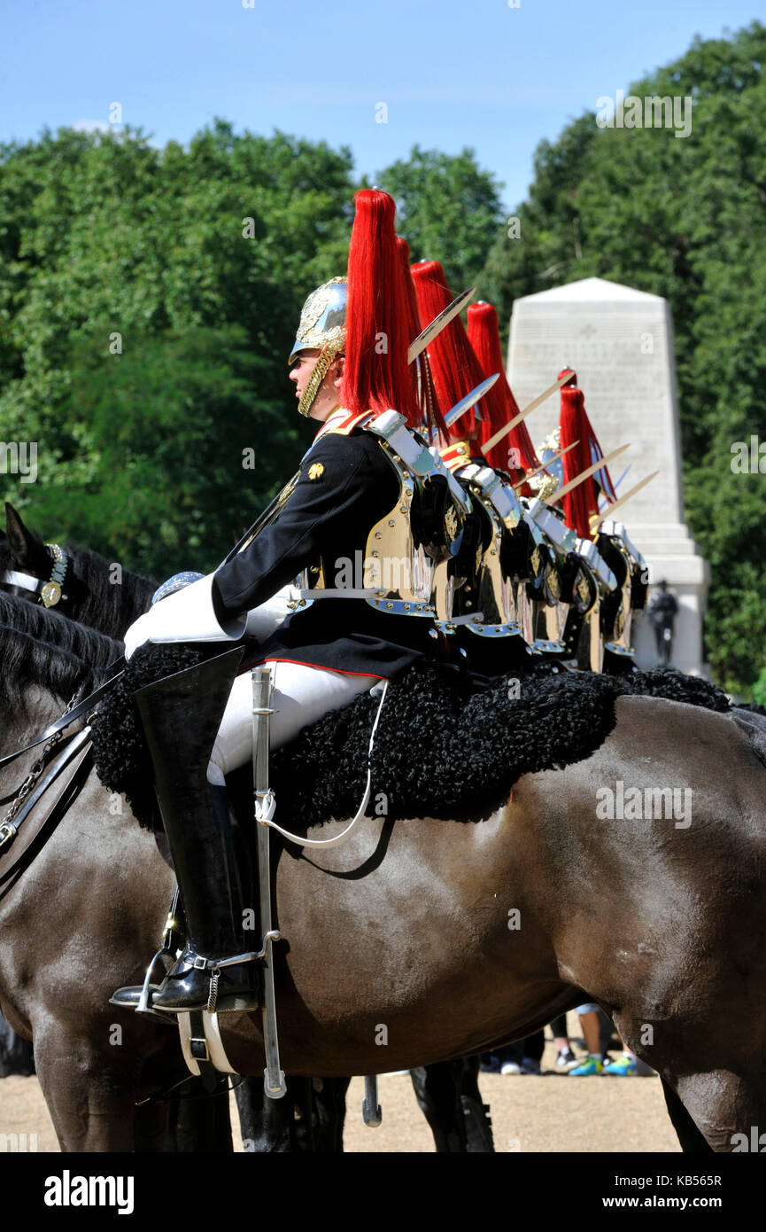 United Kingdom, London, Westminster District, Horse Guards Barrack, Changing the Guard - Stock Image