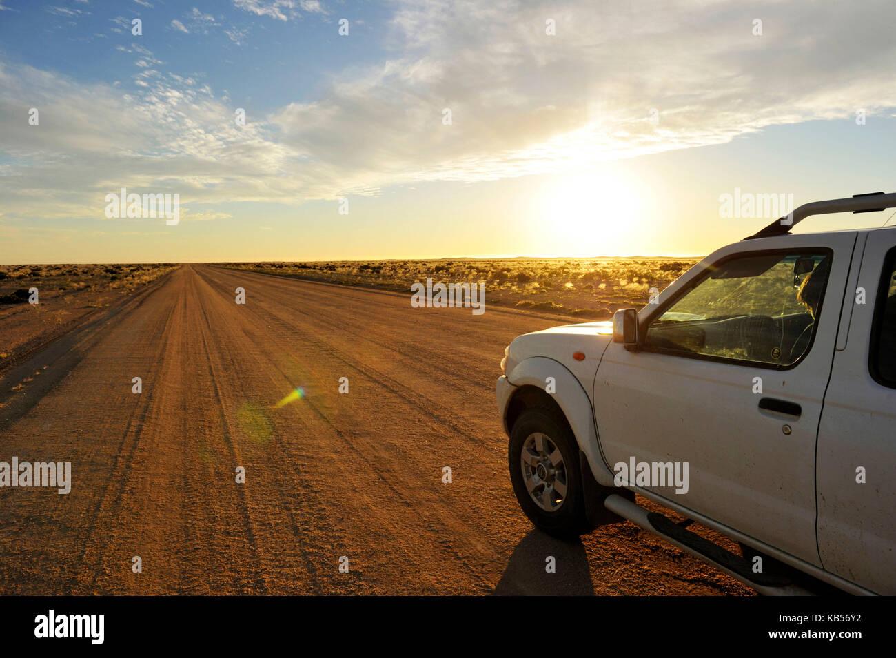 Namibia, Erongo, Damaraland, Namib desert road - Stock Image
