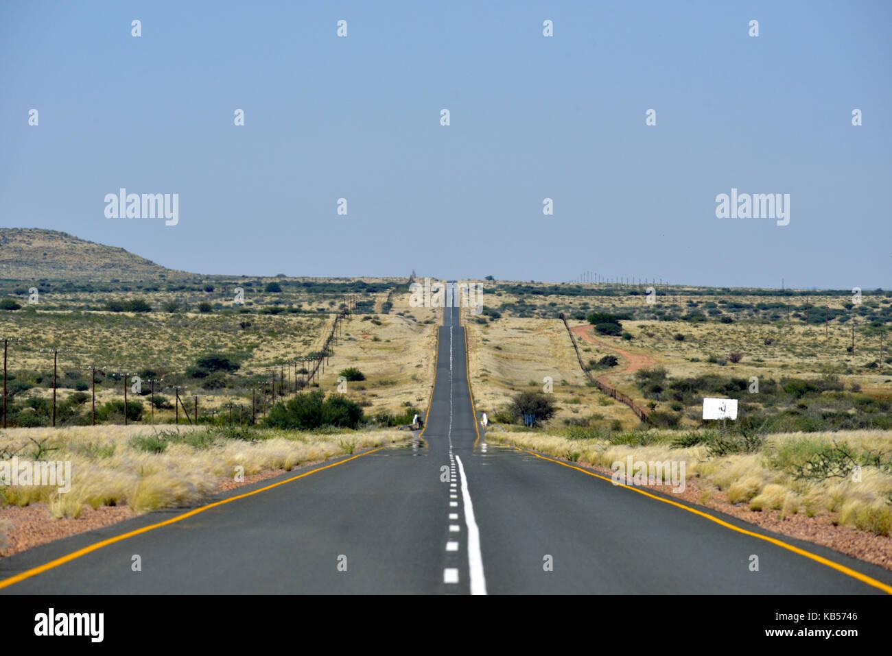 Namibia, Kalahari desert, road - Stock Image