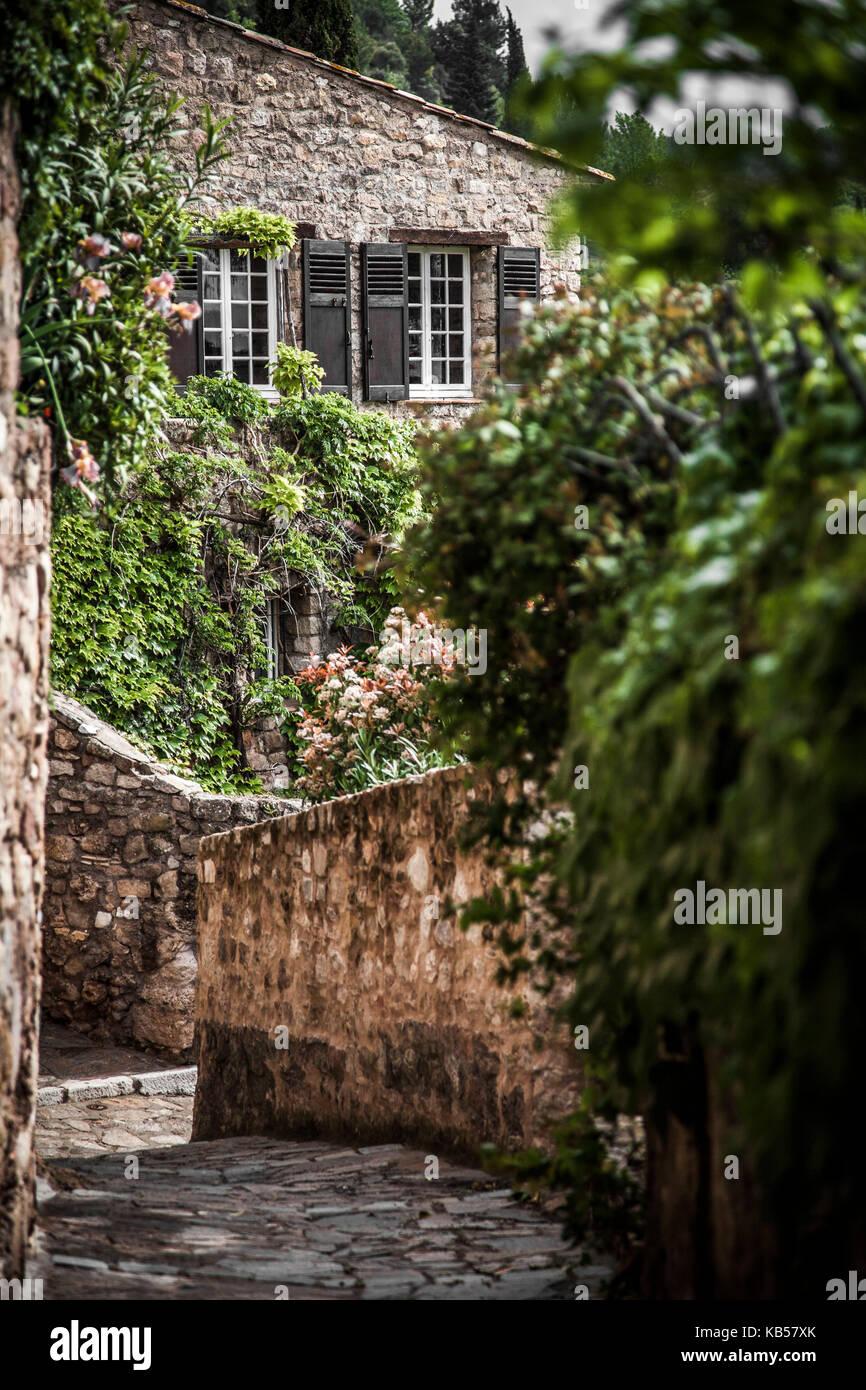 Medieval village of Les Arcs sur Argens, medieval district of Parage France Europe - Stock Image