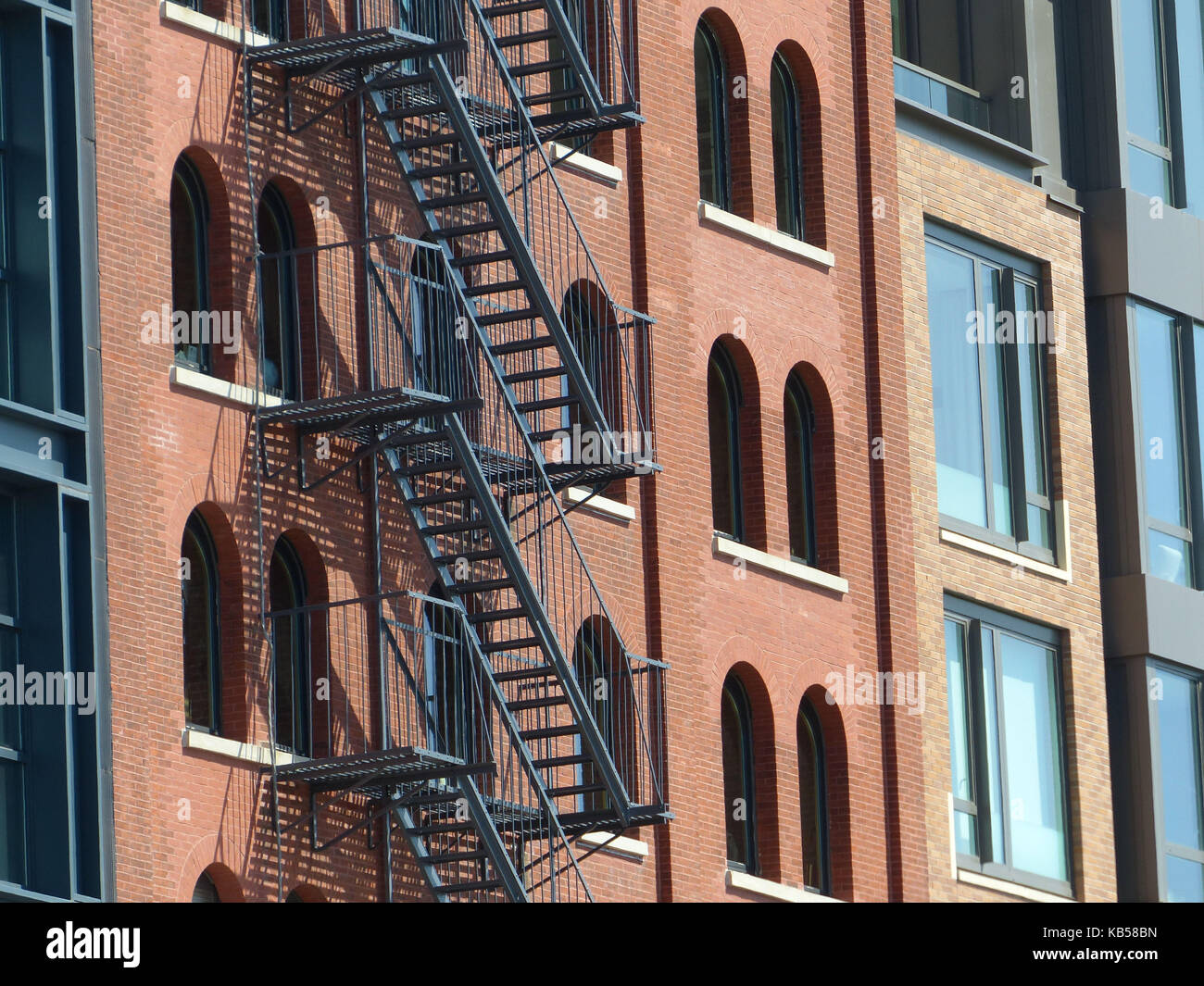 Renovated lofts in TRIBECA, aka Triangle Bellow Canal, is one of the most sought after and expensive residential - Stock Image