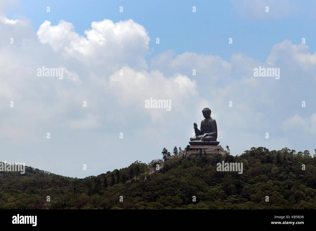 The Big Buddha in Lantau, Hong Kong. - Stock Image