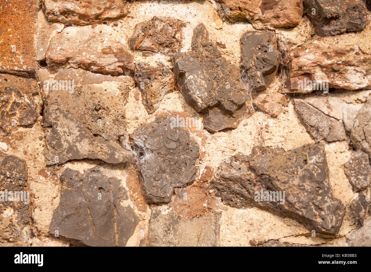 Stone on the mountain as a backgroung - Stock Image