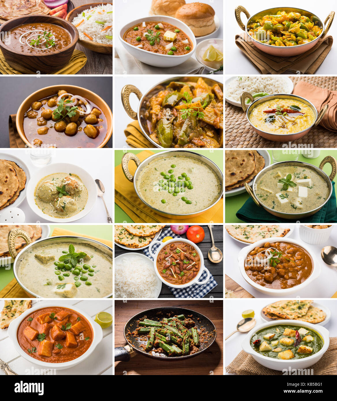 Stock photo of collage of indian popular main course vegetable stock photo of collage of indian popular main course vegetable recipe best suitable for restaurant menu card design forumfinder Choice Image