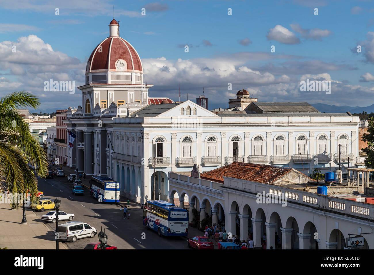 The rotunda of the Antiguo Ayuntamiento, home of the provincial government building in Cienfuegos, UNESCO, Cuba, Central America Stock Photo