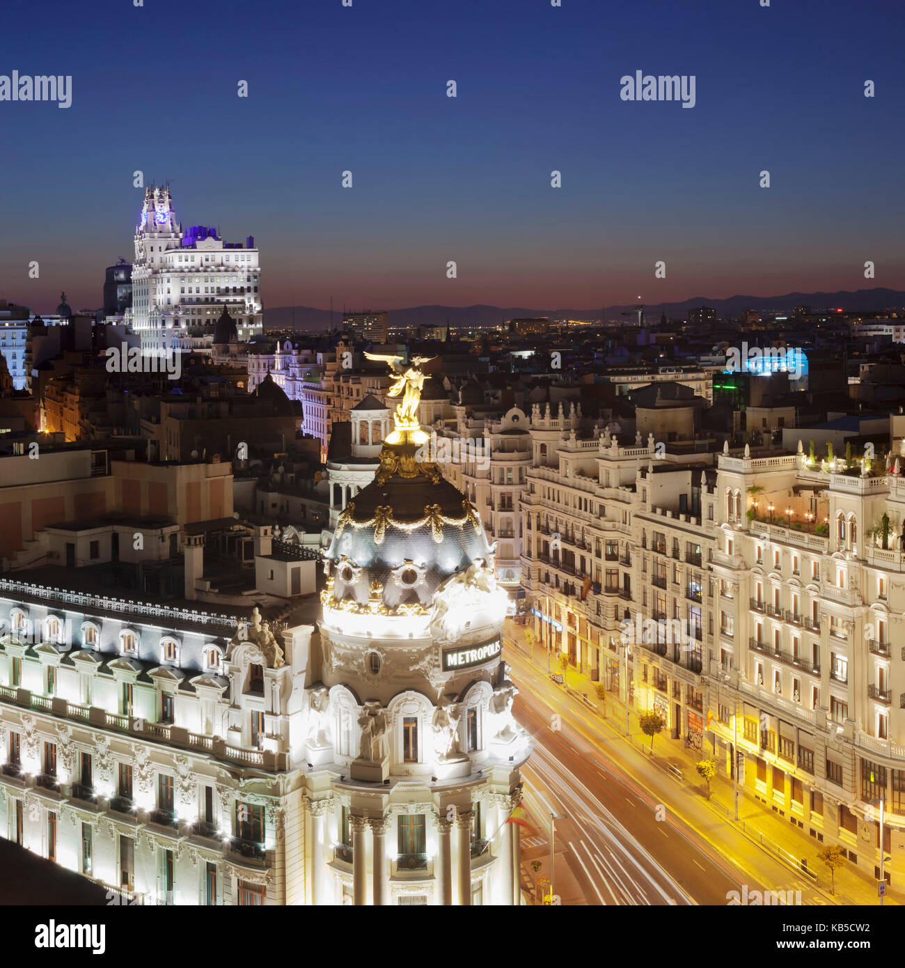 Edificio Metropolis, Architect Jules and Raymond Fevrier, Calle de Alcana, Madrid, Spain, Europe - Stock Image