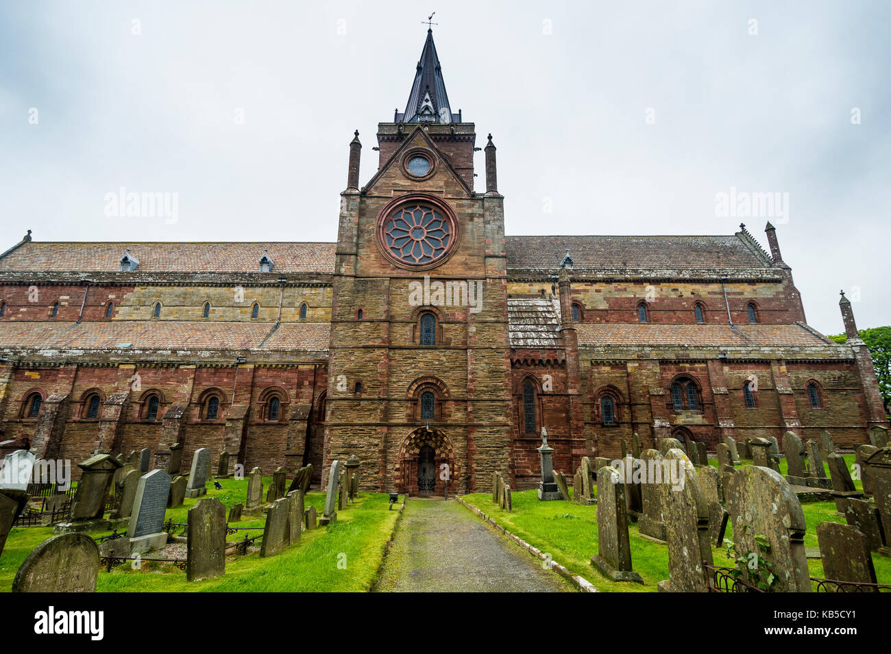 St. Magnus Cathedral, Kirkwall, Orkney Islands, Scotland, United Kingdom, Europe - Stock Image