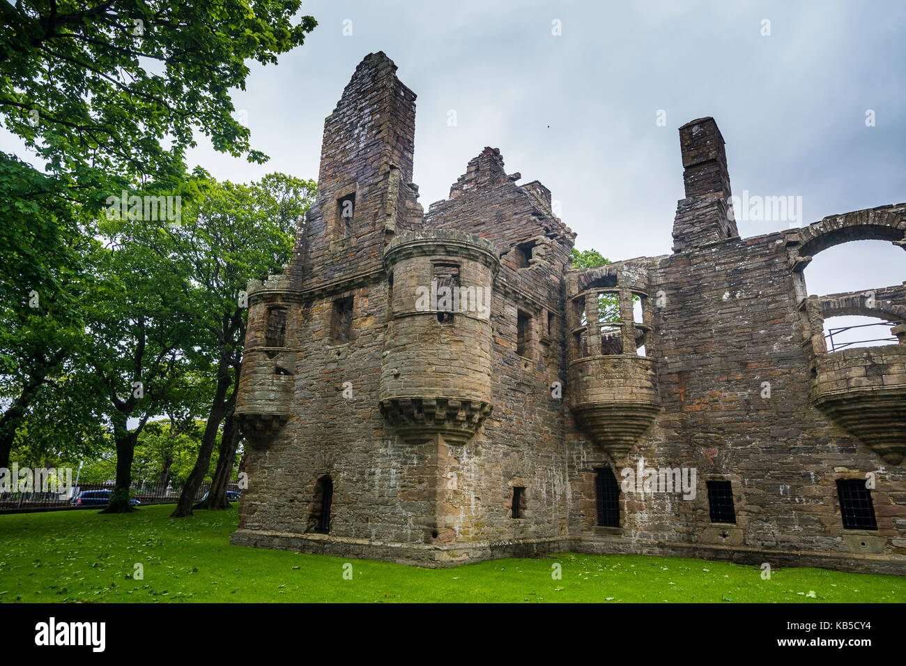 Bishop and Earls Palace of Kirkwall, Orkney Islands, Scotland, United Kingdom, Europe - Stock Image