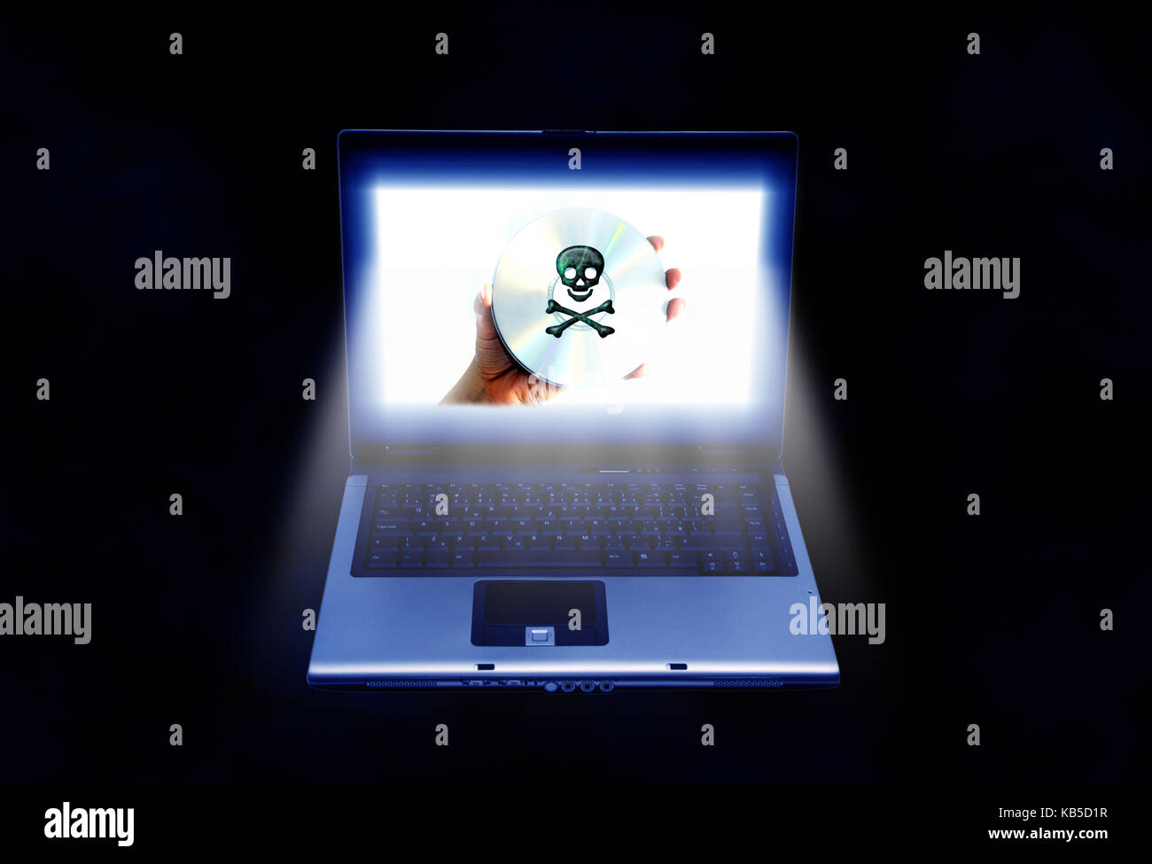 software piracy concept - Stock Image