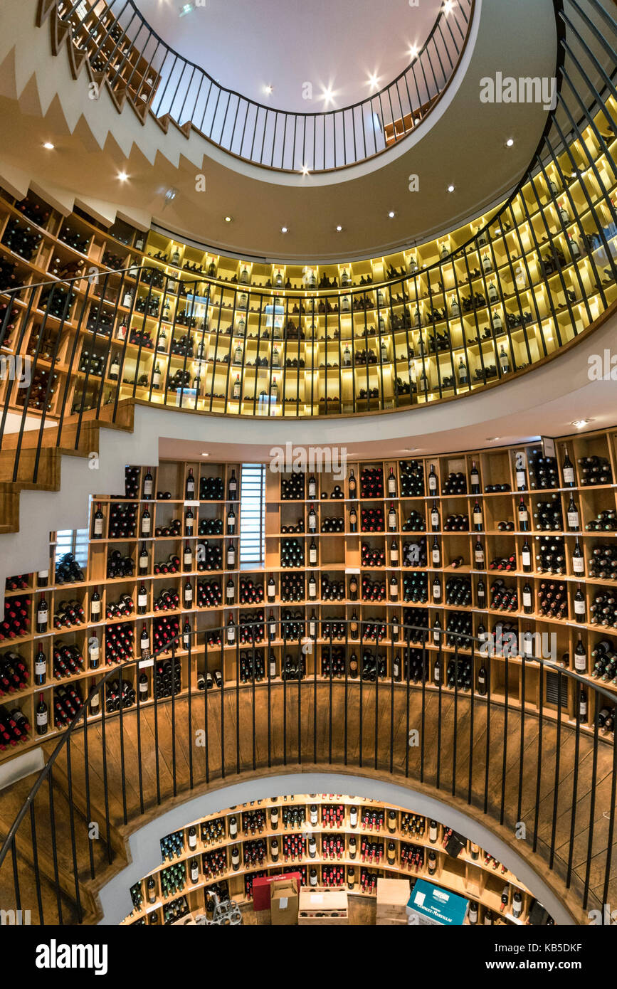 Famous wine shop L Intendant, Allees Tourny, Bordeaux, France Stock Photo