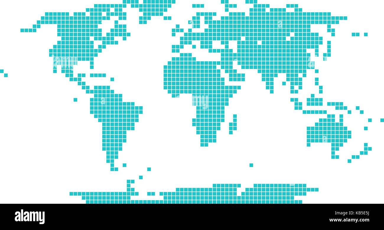 World map vector dot stock photos world map vector dot stock world map atlas background in flat dot style in gumiabroncs Images