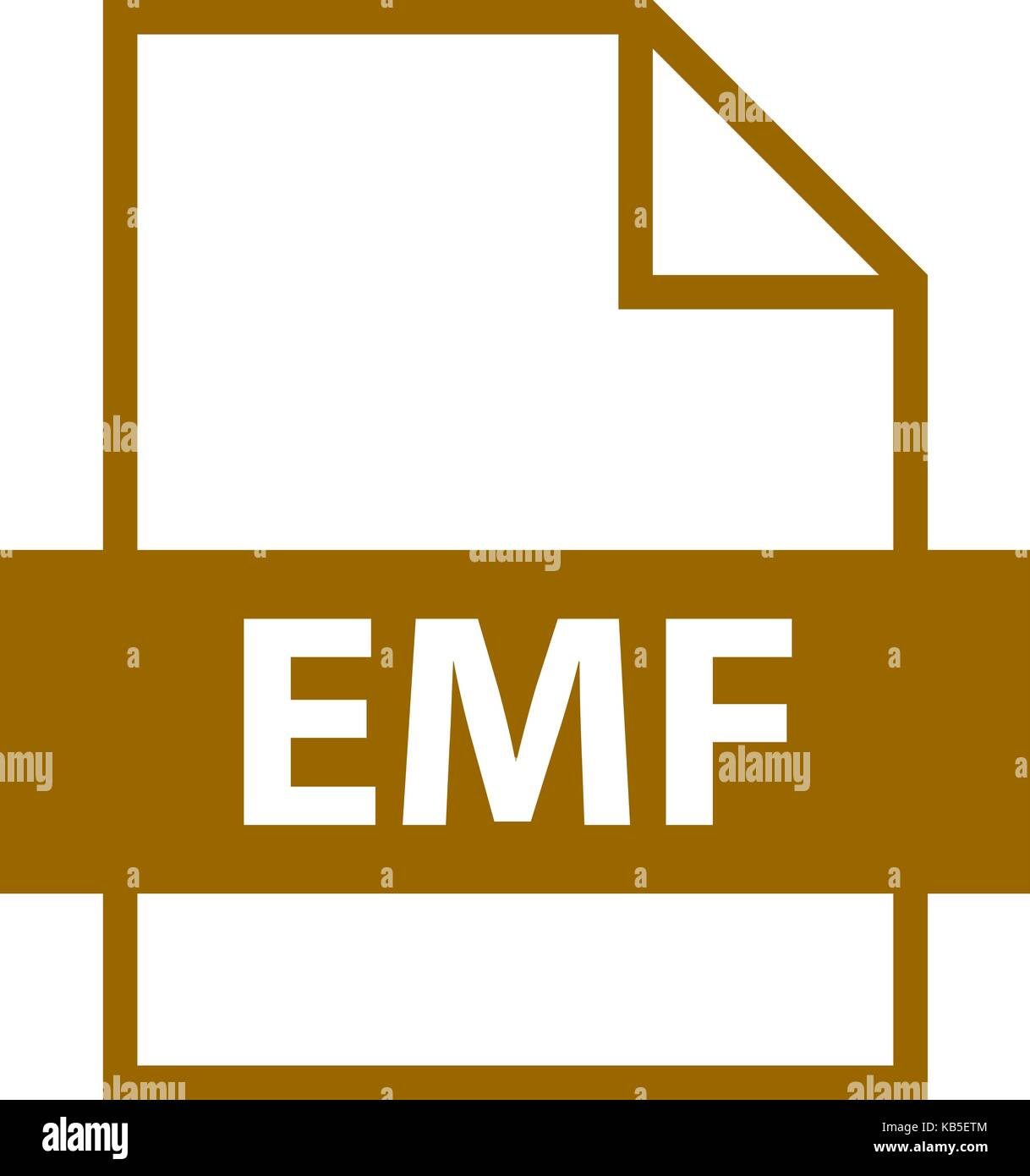 Use it in all your designs. Filename extension icon EMF Enhanced MetaFile in flat style. Quick and easy recolorable - Stock Image