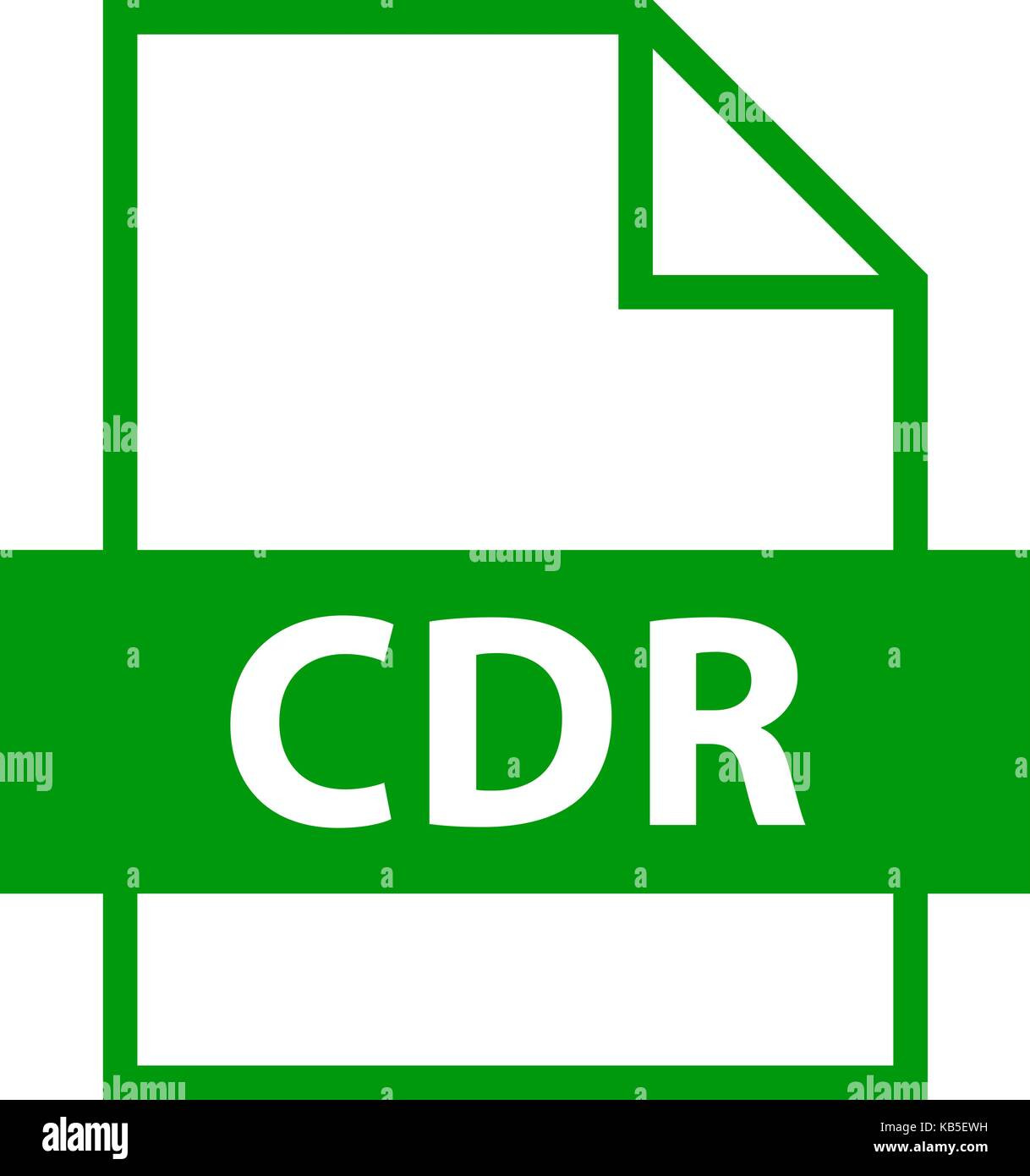Use it in all your designs. Filename extension icon CDR CorelDRAW file format in flat style. Quick and easy recolorable - Stock Image