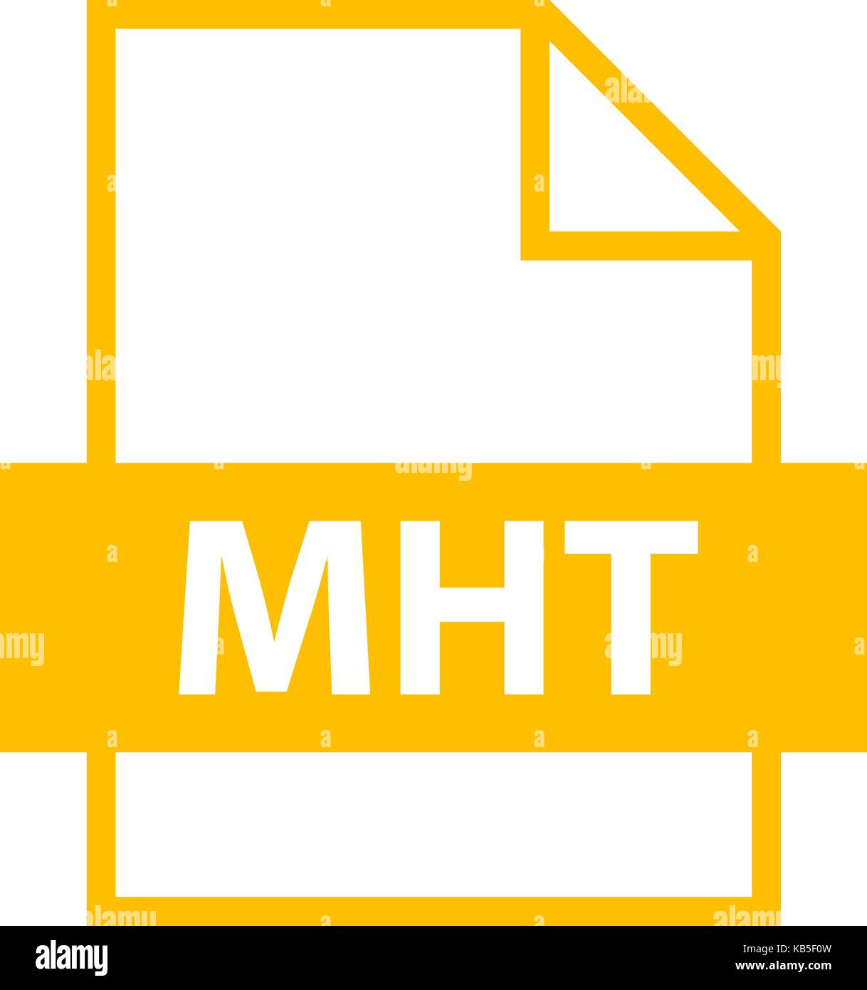 Use it in all your designs. Filename extension icon MHT MIME HTML archive format in flat style. Quick and easy recolorable - Stock Vector
