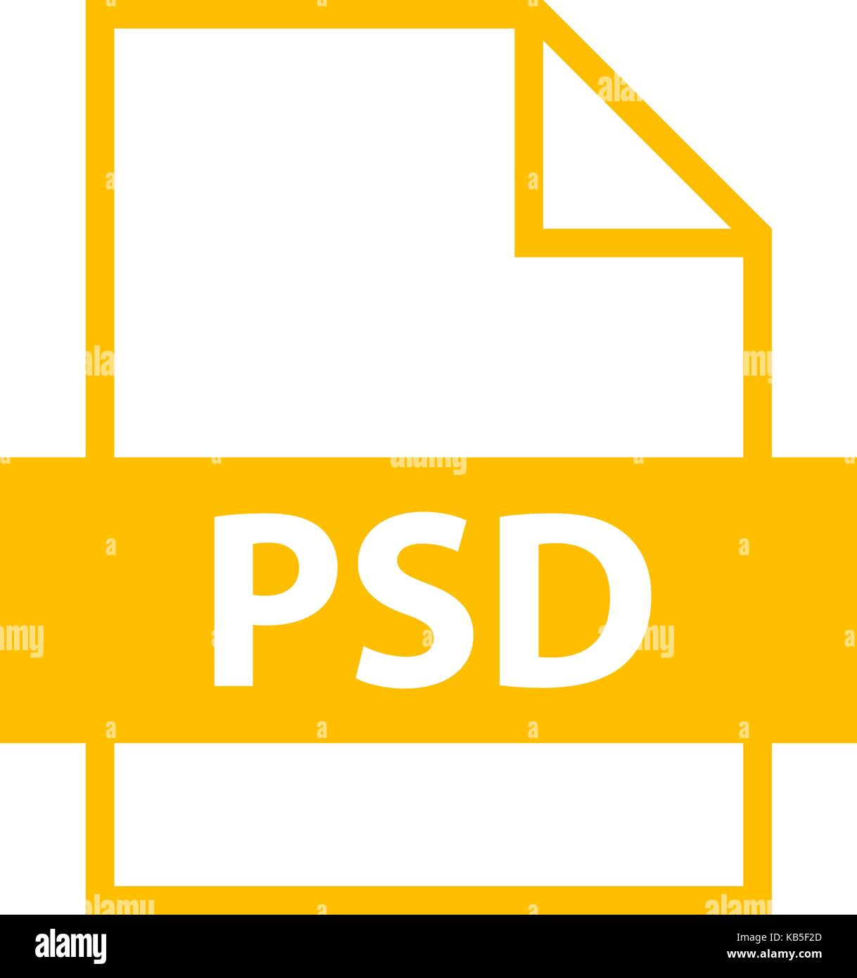 Use it in all your designs. Filename extension icon PSD PhotoShop Document in flat style. Quick easy recolorable - Stock Image