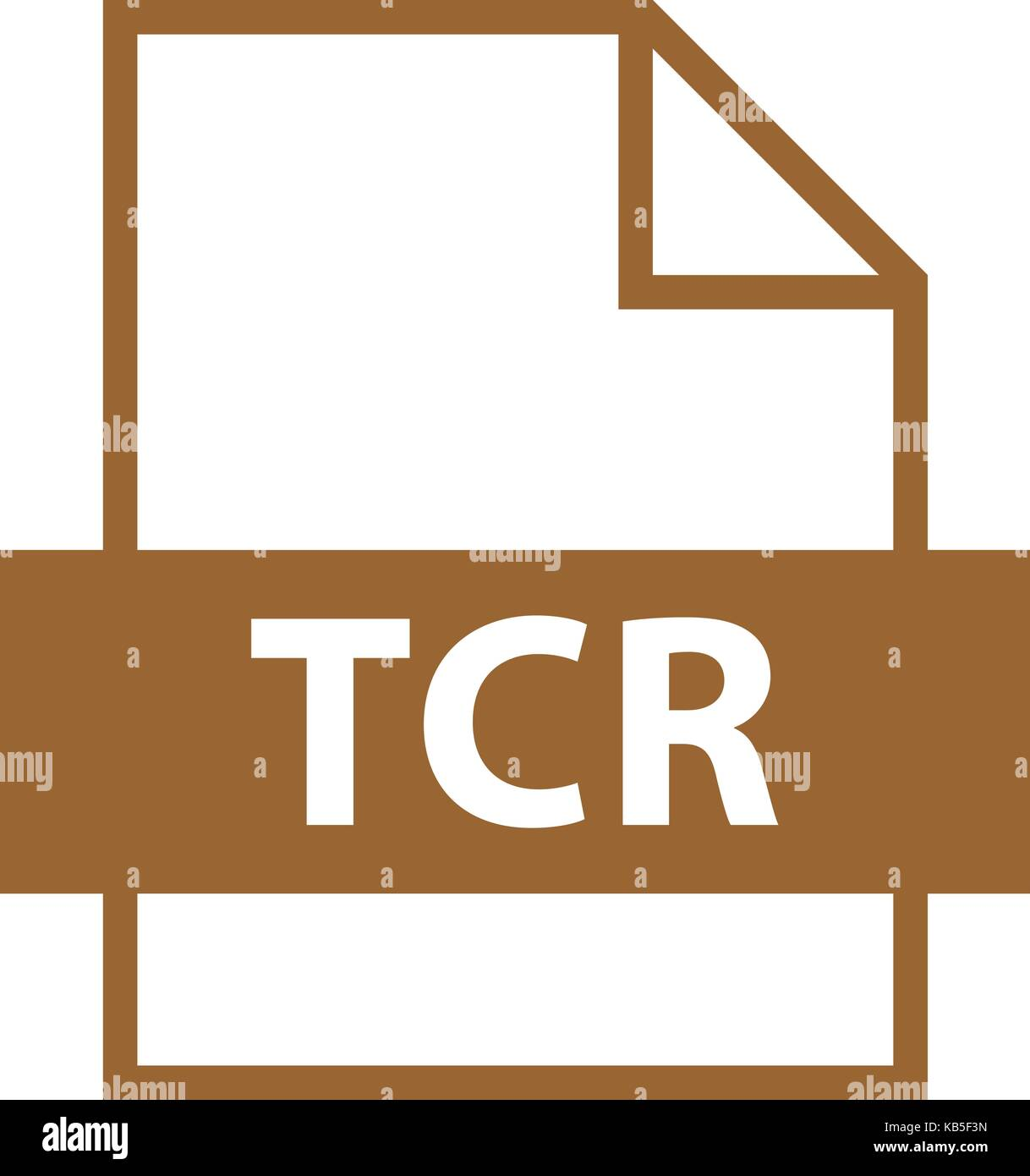 Use it in all your designs. Filename extension icon TCR e-book file format in flat style. Quick and easy recolorable - Stock Image