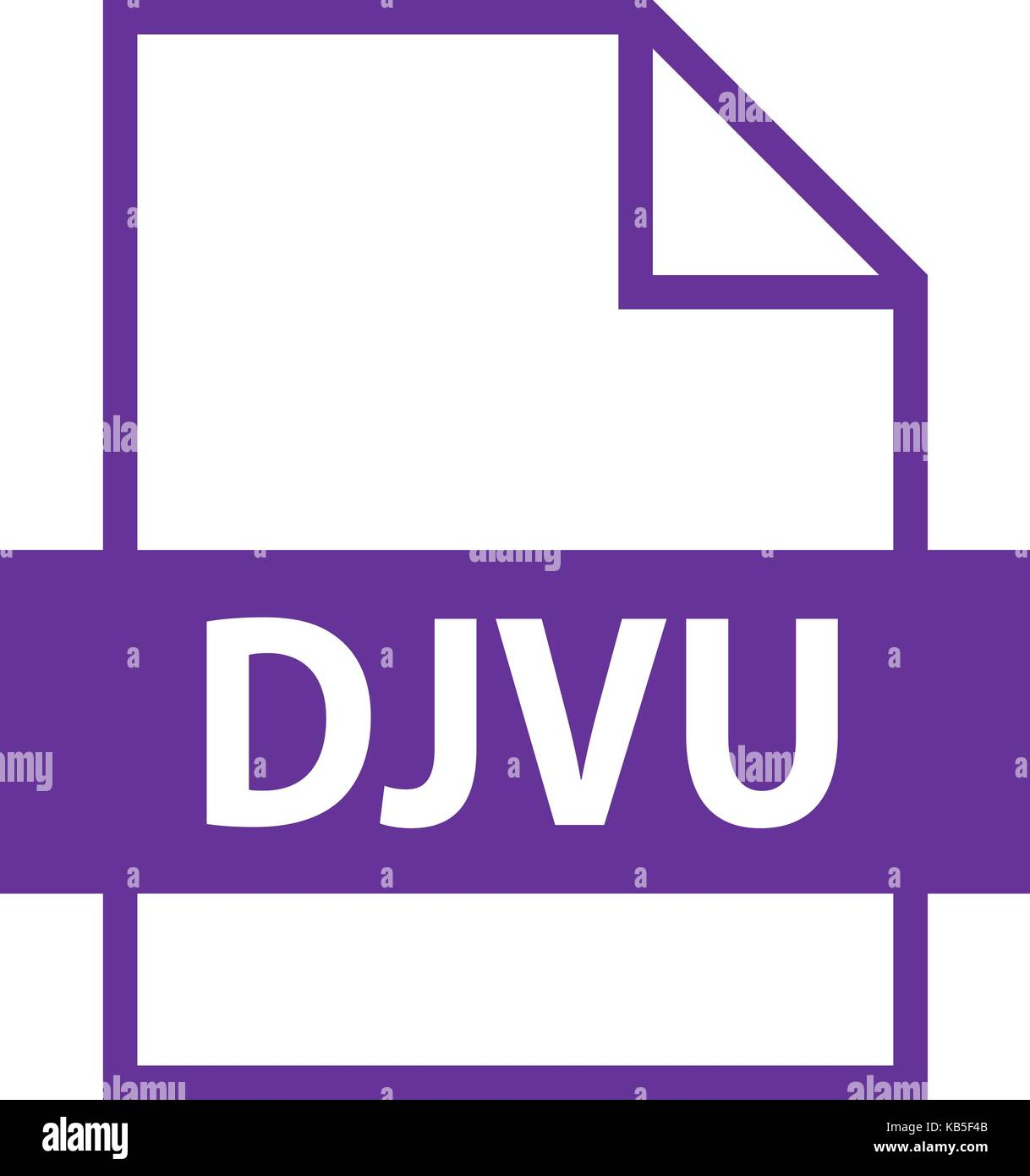 Use it in all your designs. Filename extension icon DJVU file format for scanned document in flat style. Quick easy - Stock Image