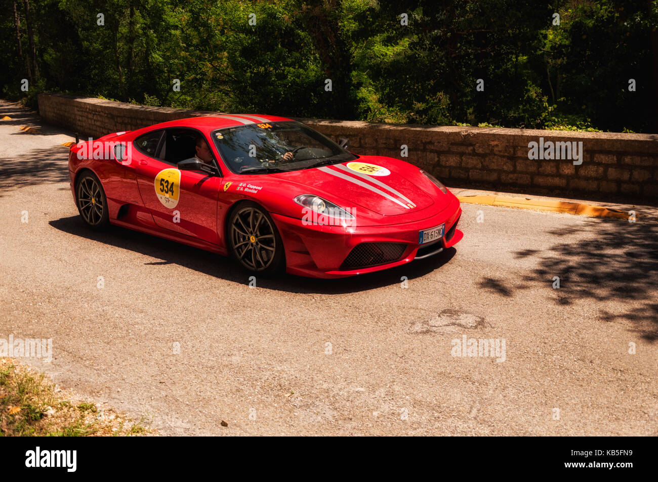 Gola Del Furlo Italy Ferrari F12 Berlinetta 2015 On An Old Racing