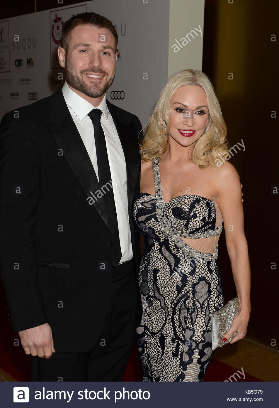 File photo dated 22/1/2017 of Kristina Rihanoff and Ben Cohen as the ex-Strictly Come Dancing couple are not planning - Stock Image