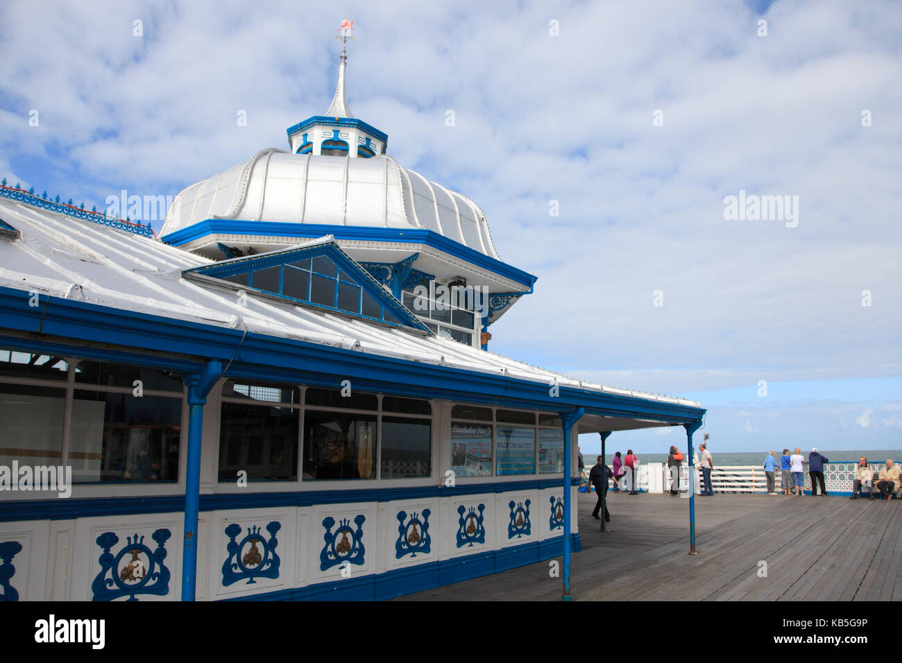 Victorian era Pier, Llandudno, Conwy County, North Wales, Wales, United Kingdom, Europe Stock Photo