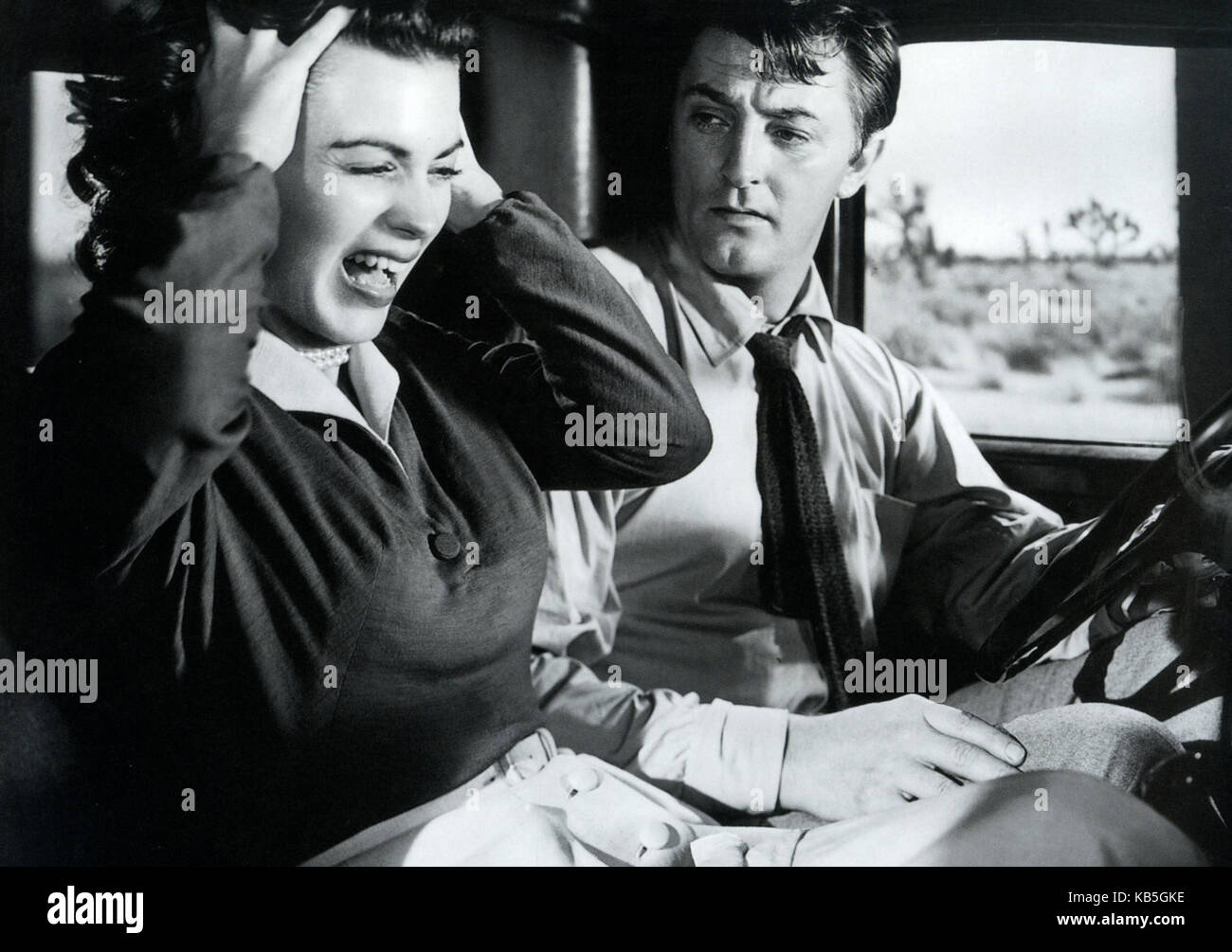 WHERE DANGER LIVES 1950 RKO Radio Pictures film with Robert Mitchum and Faith Domergue - Stock Image
