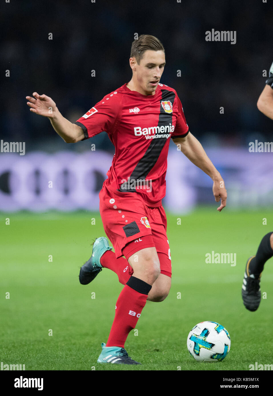 Berlin, Deutschland. 20th Sep, 2017. Dominik KOHR (LEV) Fussball 1. Bundesliga, 5. Spieltag, Hertha BSC Berlin (B) - Stock Image