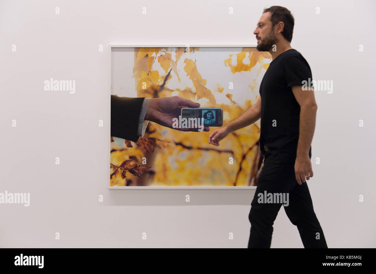 Serpentine Galleries, London, UK. 28th Sep, 2017. Torbjørn Rødland: The Touch That Made You, the first - Stock Image